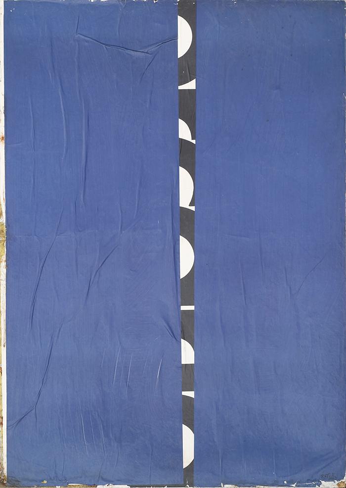 Mimmo Rotella - Blank-Spleet, 1970