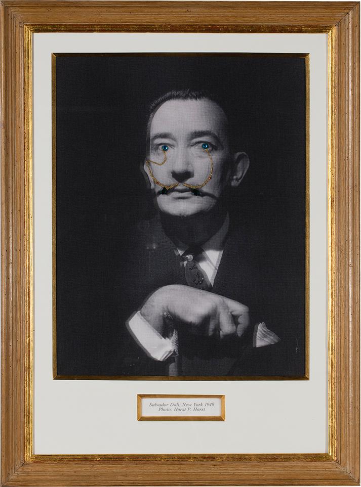 Francesco Vezzoli - Le Surréalisme C'Est Moi! (Portrait of Salvador Dalí with Jewels and Tears, After Horst)