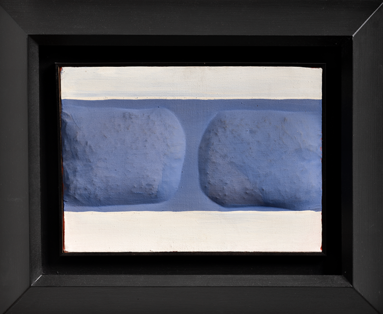 Agostino Bonalumi - Bianco e Azzurro