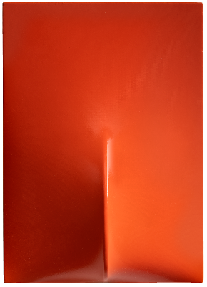 Agostino Bonalumi - Arancione, 1965