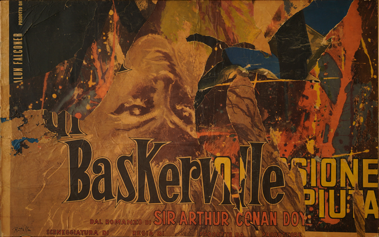 Mimmo Rotella - Baskerville, 1970