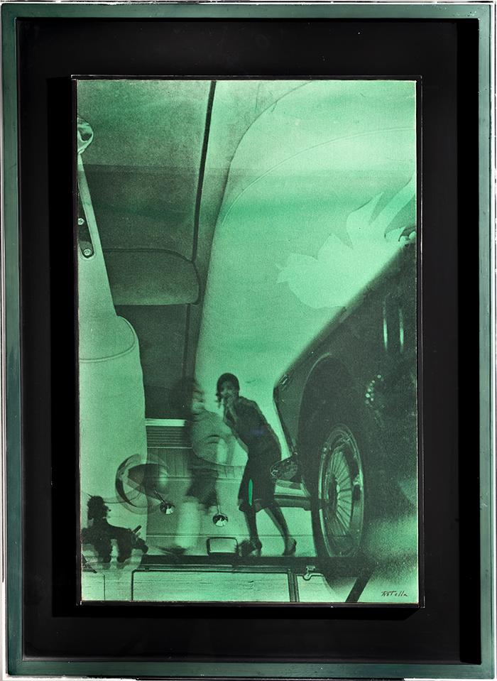 Mimmo Rotella - Ritratto, 1970