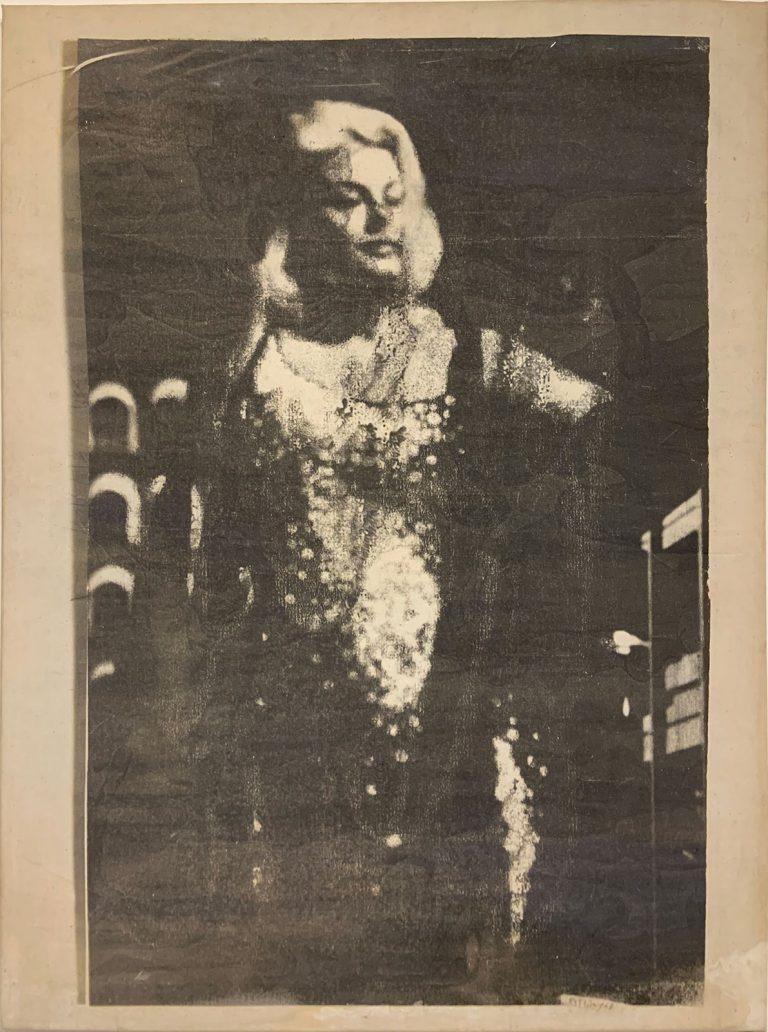 Mimmo Rotella - La diva, 1963