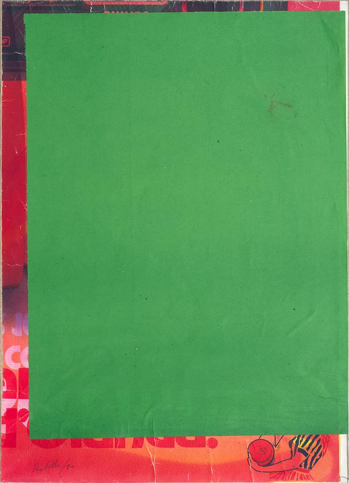 Mimmo Rotella - Blank Demi Frame, 1970