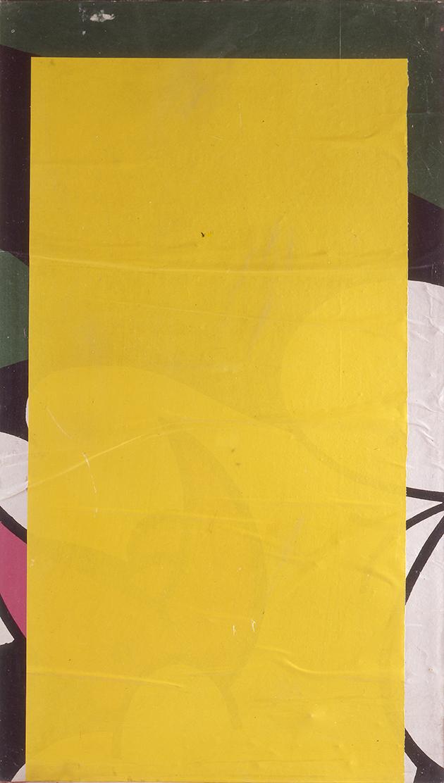 Mimmo Rotella - Giallo-bianco-nero, 1970