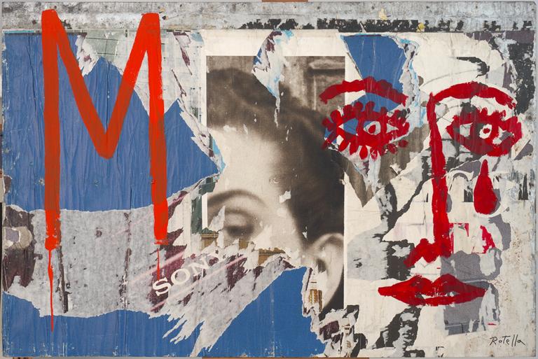 Mimmo Rotella - M, 1970