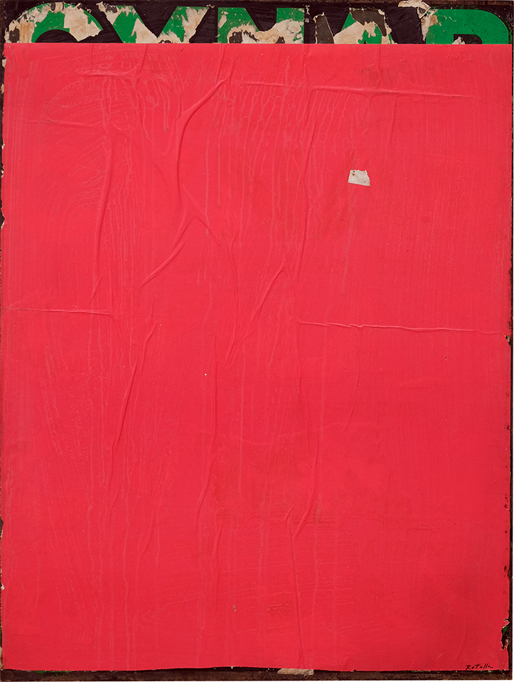 Mimmo Rotella - Red-Blank, 1970