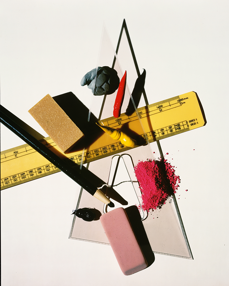 Irving Penn - Still Life with Triangle and Red Eraser, 1983